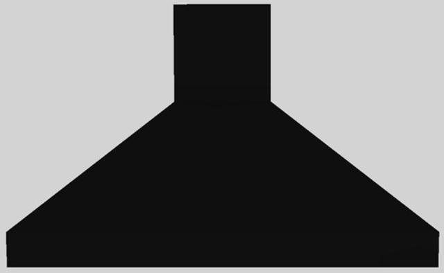 "Vent-A-Hood® 48"" Euro-Style Island Range Hood-Black-EPIH18-248 BL"