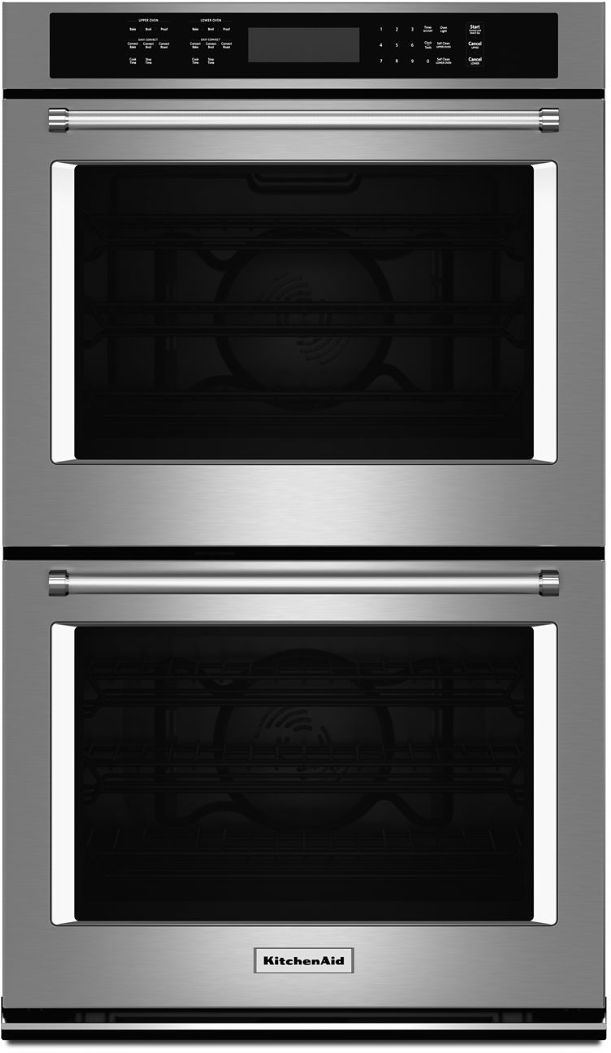 """KitchenAid® 27"""" Stainless Steel Electric Double Oven Built In-KODE507ESS"""