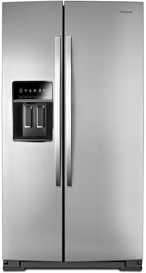 Whirlpool® 22.6 Cu. Ft. Fingerprint Resistant Stainless Steel Side-by-Side Counter Depth Refrigerator-WRS973CIHZ