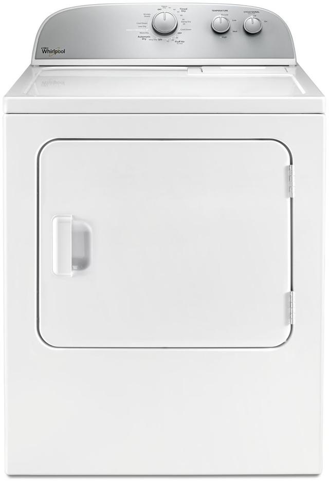 Whirlpool® Front Load Gas Dryer-White-WGD4985EW