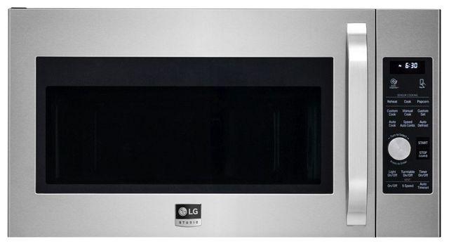 LG Studio 1.7 Cu. Ft. PrintProof™ Stainless Steel Over The Range Microwave-LSMC3086SS
