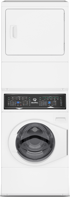Speed Queen® 3.5 Washer, 7.0 Cu. Ft Dryer White Stack Laundry-SF7003WG