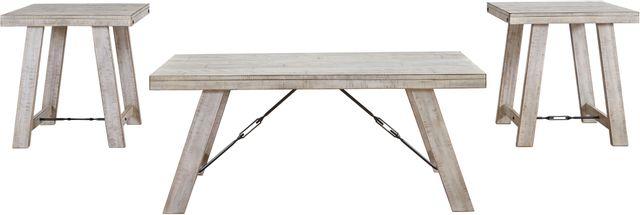 Signature Design by Ashley® Carynhurst 3 Piece Whitewash Occasional Table Set-T356-13
