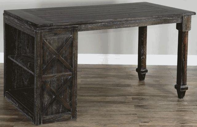 Sunny Designs European Dark/Charcoal Gray Desk Return-2822ED-DR
