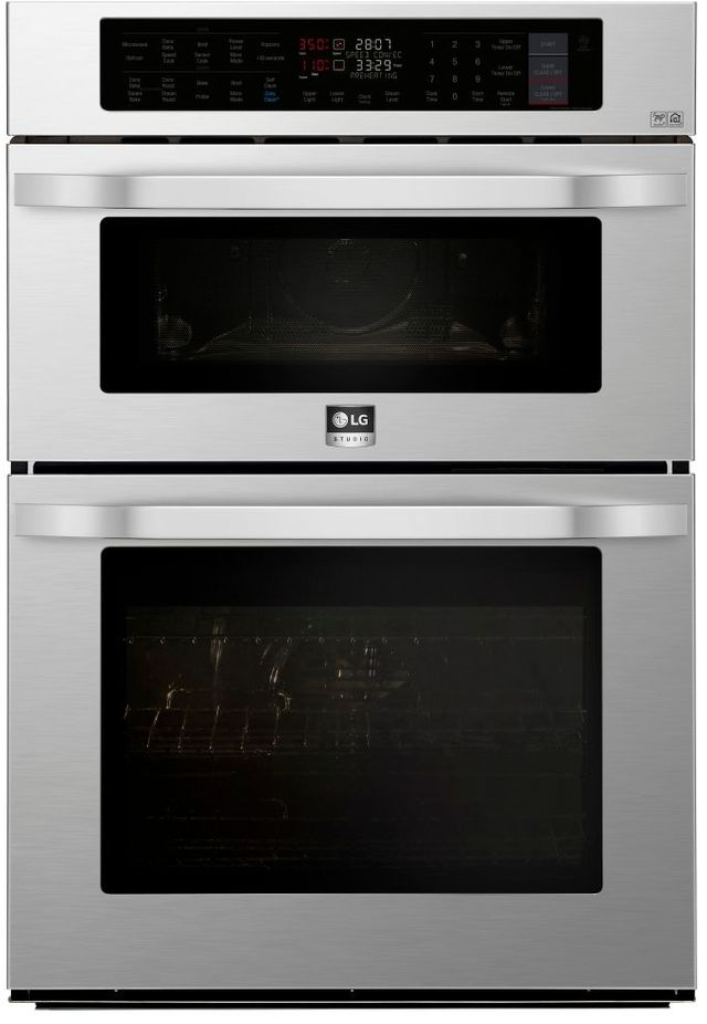 LG STUDIO 30'' Stainless Steel Electric Double Oven-LSWC307ST