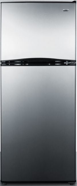 Summit® 9.9 Cu. Ft. Top Freezer Refrigerator-Stainless Steel-FF1073SSIM