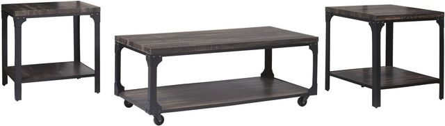 Signature Design by Ashley® Jandoree Set of 3 Brown/Black Occasional Table Set-T108-13