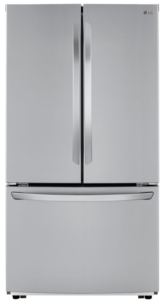 LG 22.8 Cu. Ft. PrintProof™ Stainless Steel Counter Depth French Door Refrigerator-LFCC22426S