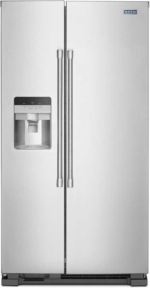 Maytag® 24.51 cu. ft. Fingerprint-Resistant Stainless-Steel Side-By-Side Refrigerator-MSS25C4MGZ