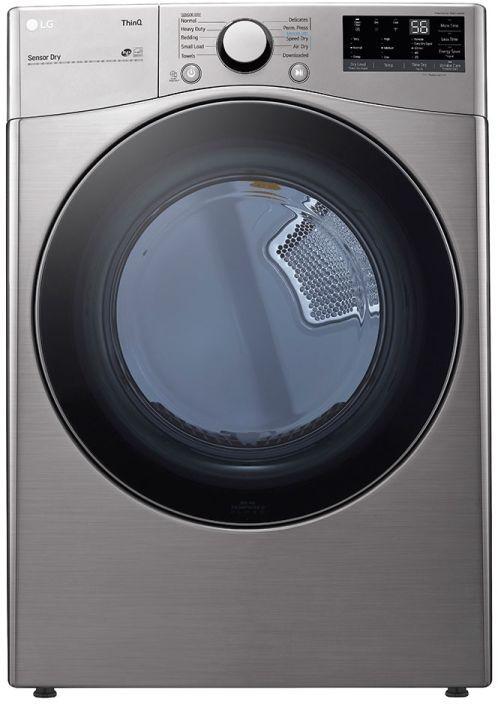 LG 7.4 Cu. Ft. Graphite Steel Front Load Gas Dryer-DLG3601V