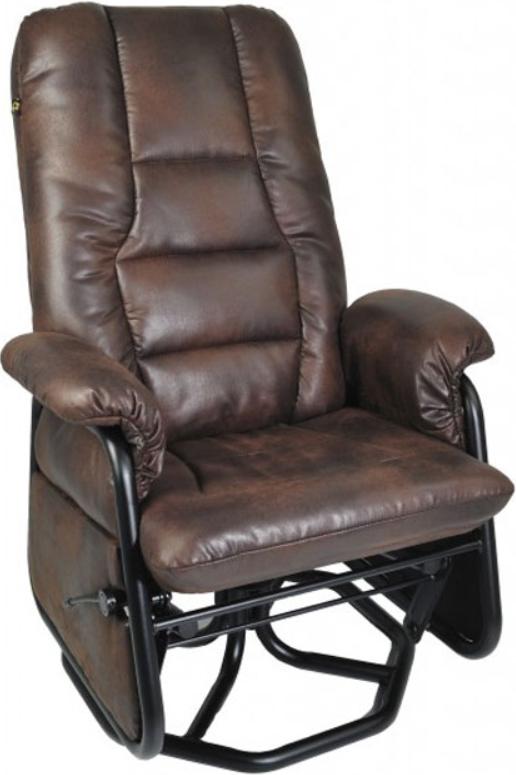 Fauteuil inclinable PEL en tissu brun PEL International®-116019