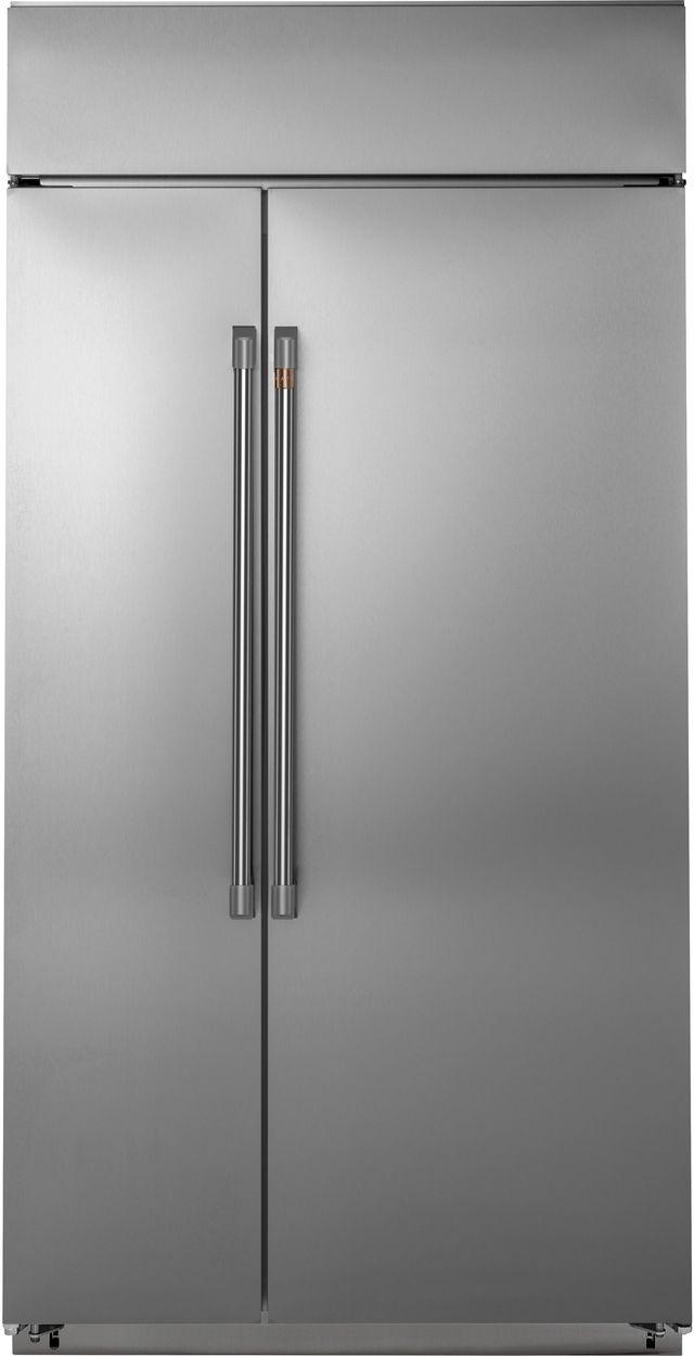 Réfrigérateur côte-à-côte de 42 po Cafe™ de 25,2 pi³ - Acier inoxydable-CSB42WP2NS1