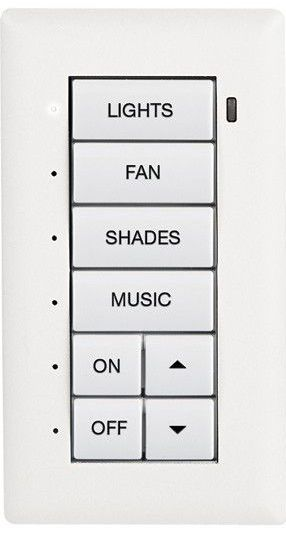 Crestron® Cameo® Flush Mount Keypad-White Textured-C2N-CBF-P-W-T
