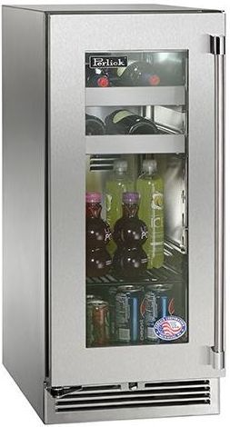 Perlick® Signature Series 2.8 Cu. Ft. Outdoor Beverage Center-Stainless Steel-HP15BO-3-3L