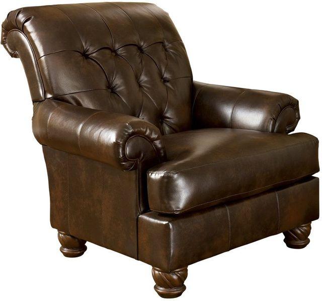Signature Design by Ashley® Fresco Antique Brown Accent Chair-6310021