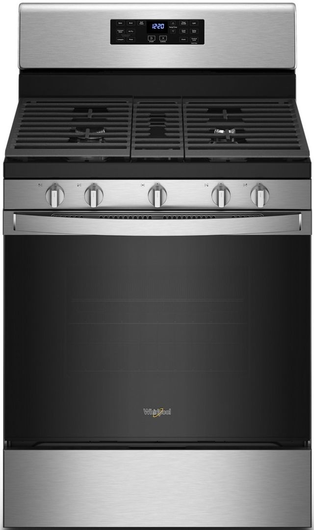"Whirlpool® 30"" Stainless Steel Free Standing Gas Range-WFG535S0LS"