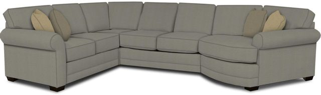 England Furniture Co. Brantley 4 Piece Culpepper Cement/Alvarado Mineral/Grande Leather Sectional-5630-28-22-43-95+8612+7482+8601