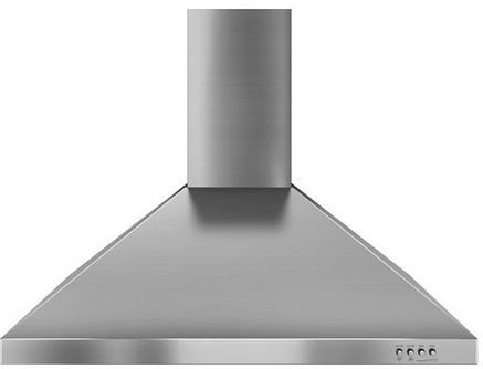 """Whirlpool® Gold® 30"""" Stainless Steel Wall Mounted Canopy Hood-WVW7330JS"""