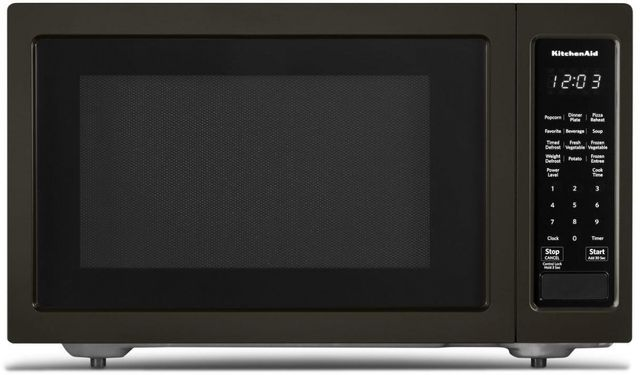 KitchenAid® 1.6 Cu. Ft. Black Stainless Steel with PrintShield™ Finish Countertop Microwave Oven-KMCS1016GBS