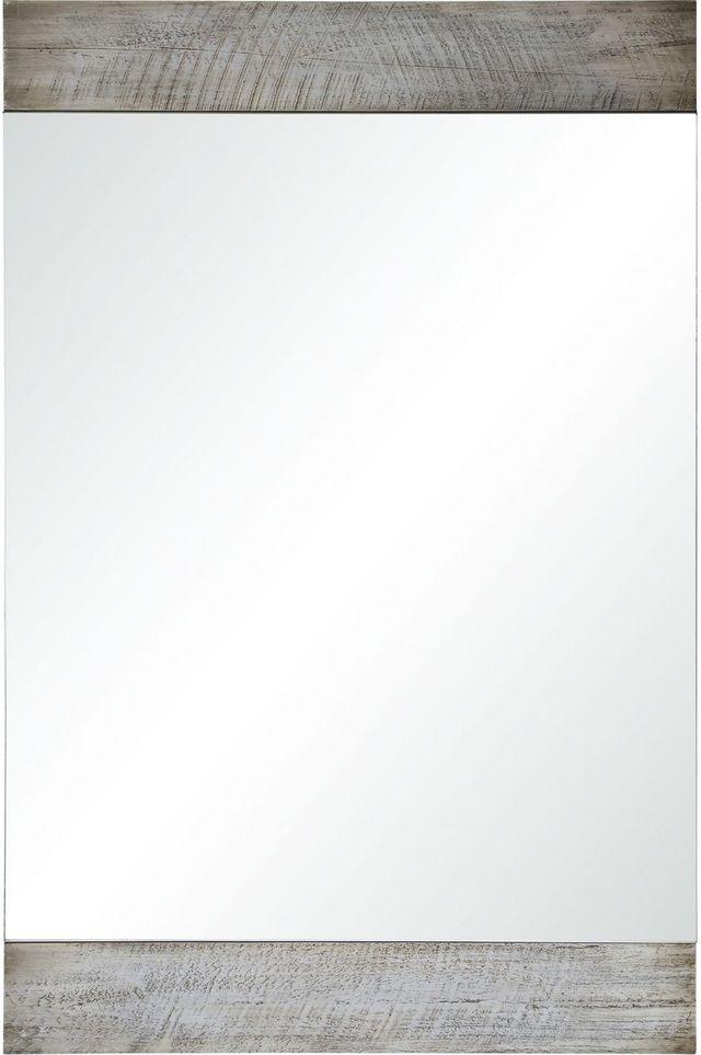 Miroir à la chaux Keeran, blanchi, Renwil®-MT2197