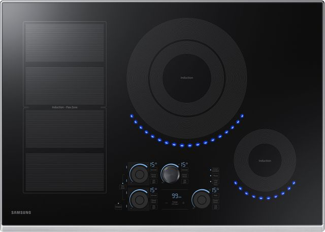 """Samsung 30"""" Induction Cooktop-Stainless Steel-NZ30K7880US"""