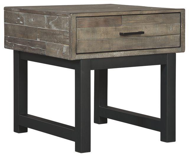Signature Design by Ashley® Mondoro Grayish Brown Square End Table-T891-2