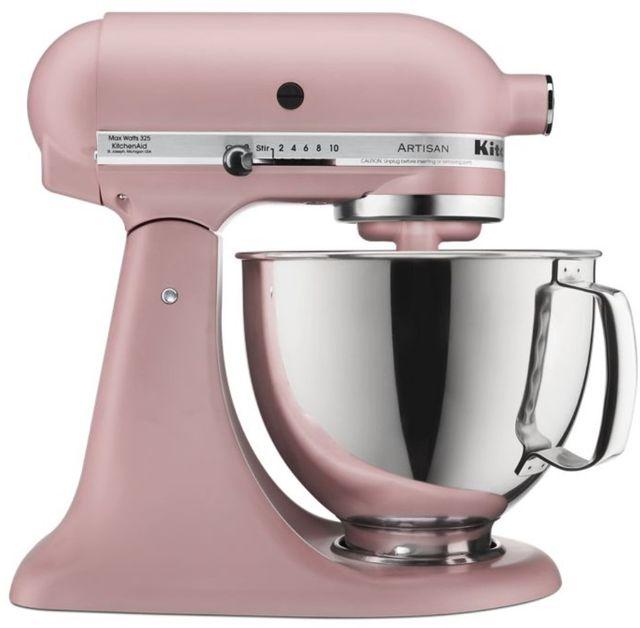 KitchenAid® Artisan® Series 5 Quart Matte Dried Rose Stand Mixer-KSM150PSDR