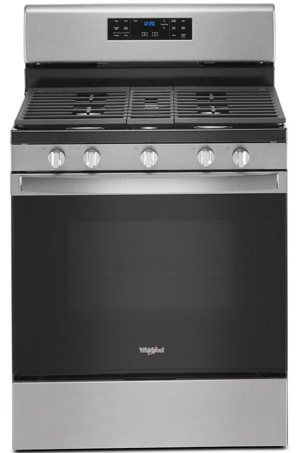 "Whirlpool® 30"" Stainless Steel Free Standing Gas Range-WFG535S0JS"