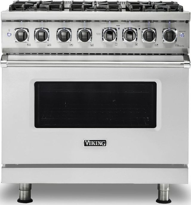 """Viking® Professional 5 Series 36"""" Pro Style Dual Fuel Range-Stainless Steel-VDR5366BSS"""
