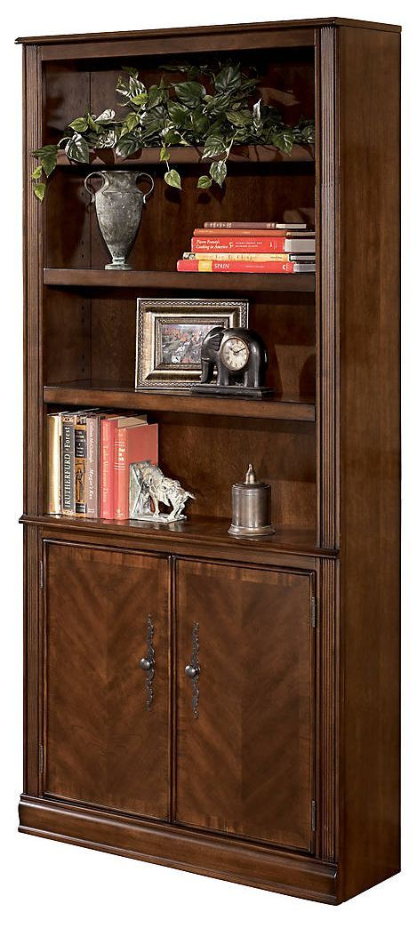 """Signature Design by Ashley® Hamlyn Medium Brown 75"""" Bookcase-H527-18"""