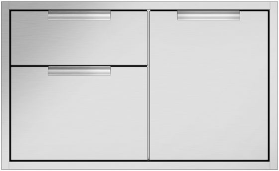 """DCS 35.94"""" Brushed Stainless Steel Bulit In Access Drawers-ADR2-36"""