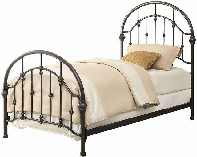 Coaster® Rowan Dark Bronze Twin Youth Bed-300407T