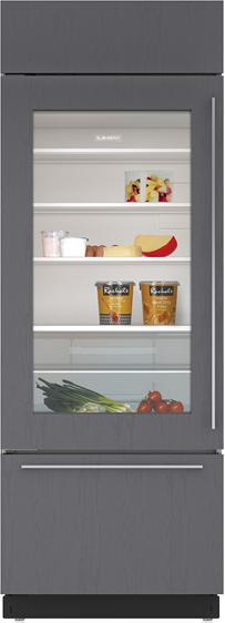 Sub-Zero® 17.3 Cu. Ft. Overlay Built In Bottom Freezer Refrigerator-BI-30UG/O-RH