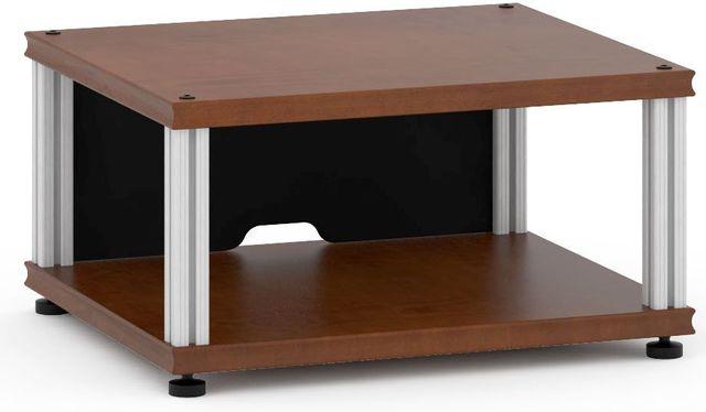 Salamander Designs® Synergy Single 10 AV Cabinet-Dark Cherry/Aluminum-SU10C/A