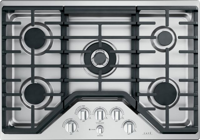 """Café™ 30"""" Stainless Steel Gas Cooktop-CGP95302MS1"""