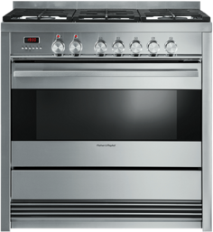 """Fisher & Paykel 36"""" Free Standing Dual Fuel Range-Brushed Stainless Steel-OR36SDPWGX1"""