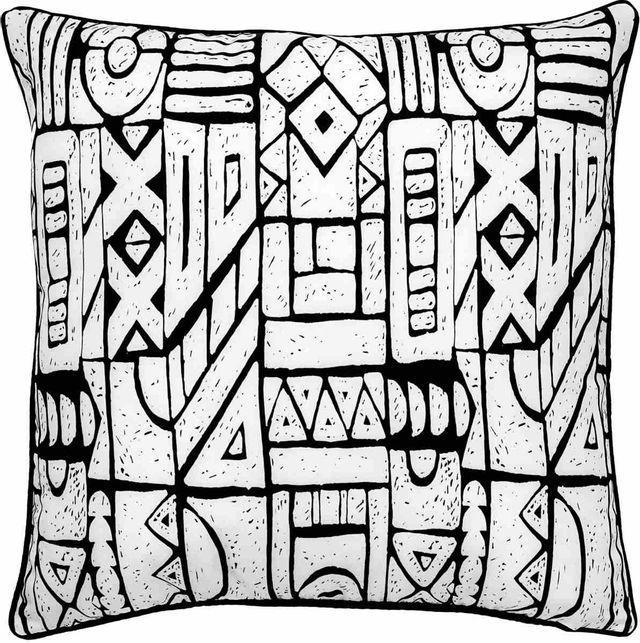 Coussin d'extérieur Brina, noir et blanc, Renwil®-PWFLO1016