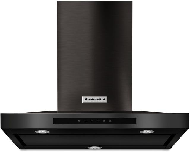 "KitchenAid® 30"" Black Stainless Steel with PrintShield™ Finish Wall Mount Ventilation-KVWB600HBS"