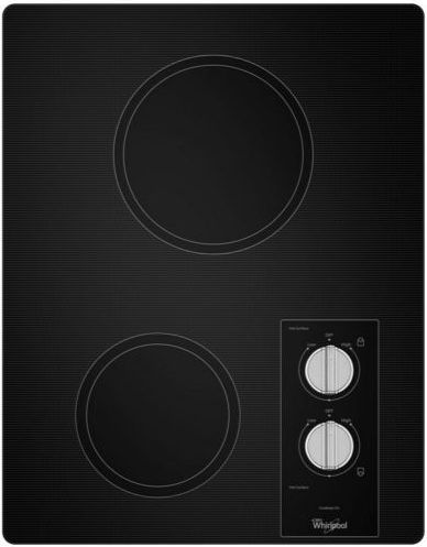 """Whirlpool® 15"""" Electric Cooktop-Black-W5CE1522FB"""