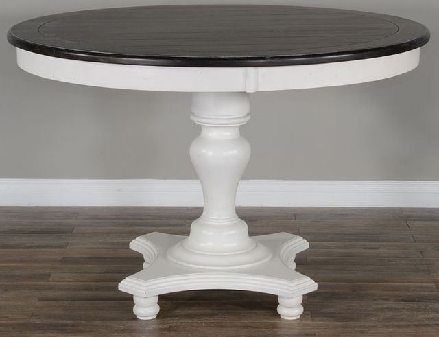 """Sunny Designs Carriage House White 36""""H Table-1014EC-36"""