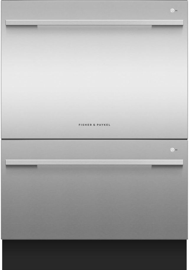 """Fisher & Paykel Series 7 24"""" Stainless Steel Double DishDrawer™ Dishwasher-DD24DDFTX9 N"""