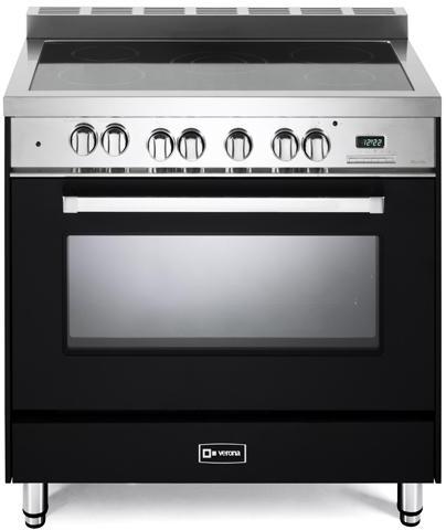 "Verona® 36"" Free Standing Electric Single Oven Range-Matte Black-VEFSEE365E"