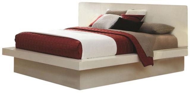 Coaster® Jessica White California King Platform Bed-202990KW