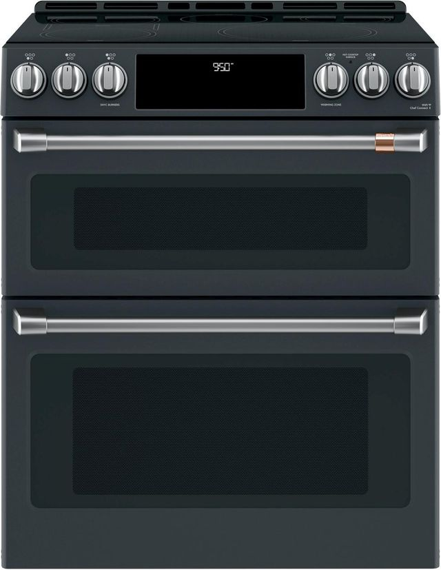 "Café™ 30"" Matte Black Slide In Double Oven Electric Range-CHS950P3MD1"