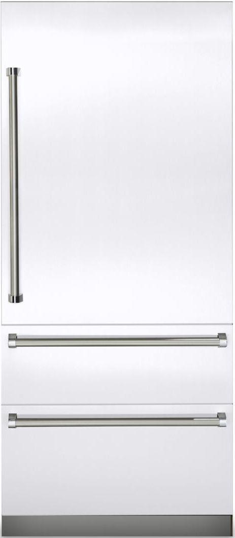 Viking® Professional 7 Series 20 Cu. Ft. Fully Integrated Bottom Freezer Refrigerator-White-VBI7360WRWH