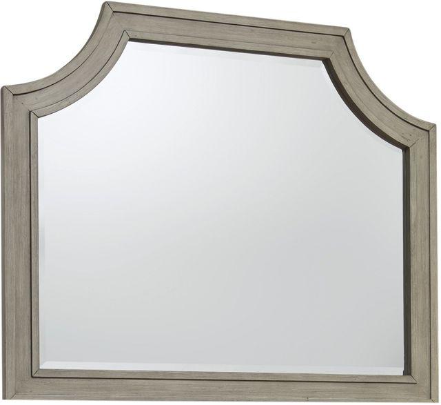 Benchcraft® Falkhurst Antiqued Gray and Walnut Brown Bedroom Mirror-B467-36