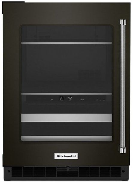 KitchenAid® 4.89 Cu. Ft. Black Stainless Steel Beverage Center-KUBL314KBS