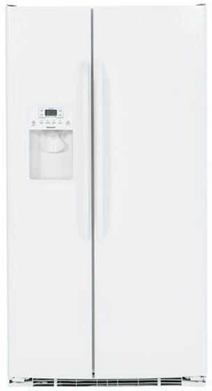 Hotpoint® 25.4 Cu. Ft. Side-by-Side Refrigerator-White-HSS25ATHWW