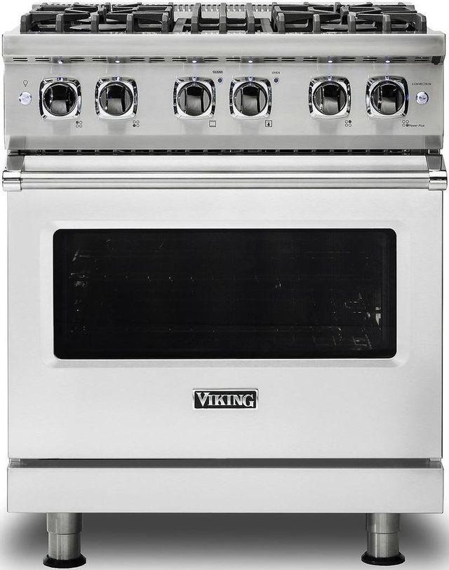 """Viking® Professional 5 Series 30"""" Pro Style Dual Fuel Range-Stainless Steel-VDR5304BSS"""