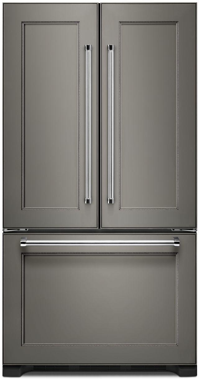Réfrigérateur à portes françaises à profondeur de comptoir de 36 po KitchenAid® de 22,0 pi³ - Prêt pour le panneau-KRFC302EPA